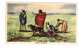 """USA, Indian, """"Ready To Move"""" Painting By Noted Indian Artist """"Andrew Standing Soldier, 1949 Engle Postcard - America"""
