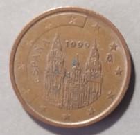 1999  -  SPAGNA  - MONETA IN EURO - VALORE  2 CENTESIMI  - CIRCOLANTE - - Spanien