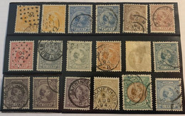 PAYS-BAS - NEDERLAND  - 1891-1897 - - Usados