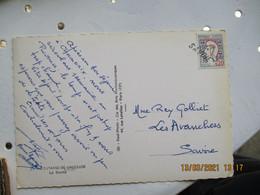 Savoie Griffe Marque Lineaire Obliteration De Fortune Sur Lettre - 1921-1960: Moderne