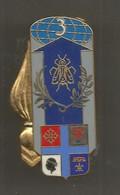 JC , G , Militaria , Insigne , 3 E Groupement Logistique Du CAT Marseille ,Balme Saumur ,G 4356 , Frais Fr 1.95 E - Army