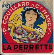 ETIQUETTE   DE FROMAGE    LORRAINE NEUVE CARTONNEE    LAITERIE ST HUBERT NANCY MEURTHE ET MOSELLE - Cheese