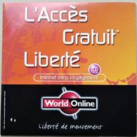 - Pochette CD ROM De Connexion Internet - WORLD ONLINE - - Kit Di Connessione A  Internet