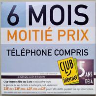 - Pochette CD ROM De Connexion Internet  - CLUB INTERNET - - Kit Di Connessione A  Internet
