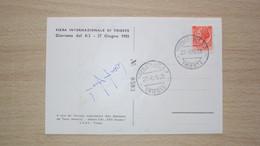 STORIA POSTALE 1955 TRIESTE CARTOLINA ILLUSTRATA IMPRESA SCALATA K2 ALPINISMO CON AUTOGRAFO DI COMPAGNONI ACHILLE - Otros