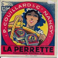 ETIQUETTE   DE FROMAGE    LORRAINE NEUVE CARTONNEE  CARRE DE L'EST    LAITERIE ST HUBERT NANCY  M ET M LA PERRETTE - Cheese