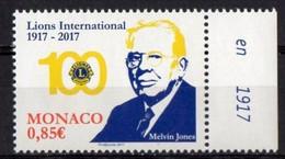 Monaco 2017.  100 Jahre Lions Club International.  MNH - Unused Stamps