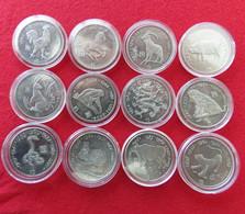 Liberia 9 X 5 $ 2000 Zodiac Tiger, Monkey, Rooster, Pig, Mouse, Rabbit, Goat, Snake, Bull - Liberia