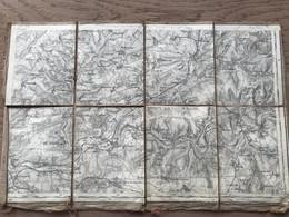 Carte Entoilée -  Secteur ALBERT (Somme)  1:80 000 - 1914-18