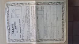 TELEFONO TELEFONIA CONTRATTO COMPAGNIA TELEFONICA TELVE DEL 1936 A TRIESTE - Italia