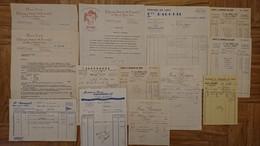 AVEYRON - LOT DE 13 DOCUMENTS A ENTETE FACTURES - UN D ALBI DONT DEPOT A CRANSAC (12) - Andere