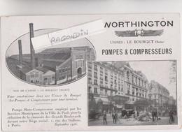 CPA - 93 - LE BOURGET - WORTHINGTON Usines Du BOURGET Pompes Et Compresseurs Carte PUBLICITAIRE De Représentant - Le Bourget