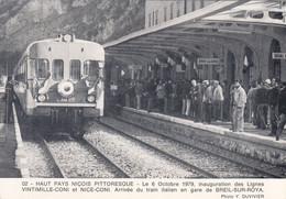 06 - BREIL SUR ROYA - ALPES MARITIME - ARRIVEE DU TRAIN ITALIEN EN GARE - VOIR SCANS - Breil-sur-Roya