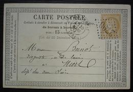 Parthenay 1874 Gc 2790  Deux-Sèvres Carte Précurseur Pour Niort - 1849-1876: Periodo Clásico