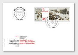Switzerland 2021 - 150 Years Internment Of Bourbaki's Army FDC - Unused Stamps
