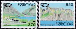 Färöer, 1991, 219/20, MNH **, NORDEN: Tourismus, - Färöer Inseln