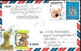 Cambodge- Kampuchea. L. > Halle Belgique  8/9/89 - Kampuchea