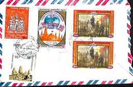 Cambodge- Kampuchea. L. Phnom Penh > Halle Belgique  20/6/90 - Kampuchea