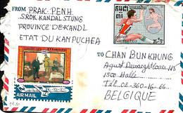 Cambodge- Kampuchea. L. Phnom Penh > Halle Belgique - Kampuchea