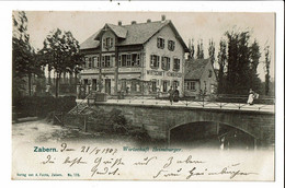 CPA  Carte Postale France-Saverne-Zabern Wirtschaft Heimburger-1907- VM28726 - Saverne