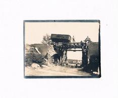VENDIN LE VIEIL  LOT X 2 PHOTOS ACCIDENT WAGON PONT GUERRE 1914 - 1918 ALLEMANDE - Otros Municipios