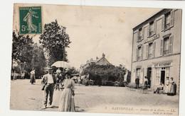 50-CPA- BARNEVILLE , Avenue De La Gare  Hôtel De La Gare CIRCULEE TRES ANIMEE - Unclassified