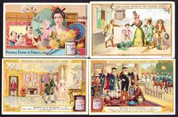 LOT De 8 CHROMOS LIEBIG  Japonaise Porcelain Chateaux  Castles  Escunal Madrid  Edingburgh Edimbourg Pierrefonds - Liebig