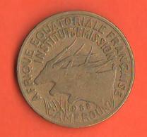 Cameroun 25 Francs 1958 Camerun 25 Franchi Bronze Coin Equatorial Africa Francaise - Cameroon