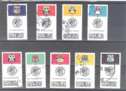 France Autoadhésifs Oblitérés N°1921 à 1929 (Série Complète : Chouettes Lettre Suivie) (cachet Rond) - Used Stamps
