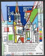 1999  Schweiz   Mi. Bl 29  FD-used  Nationale Briefmarkenausstellung NABA 2000, St. Gallen - Used Stamps