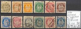 [858355]TB//O/Used-c:50e-Norvège 1894 - N° 46A/57A, Dentelé 14 1/2 X 13 1/2, Série Complète - Used Stamps