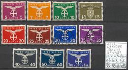 [858395]TB//MIX/MIX-c:30e-Norvège 1942 - S41/51, */mh Et Obl/Used (voir Scan) - Officials