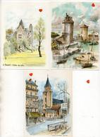 42675-ZE-PEINTURE--DIVERS-Lot De 7 CPM -aquarelle Originale De Robert LEPINE (AVIGNON-Les Landes-Bateaux-LE TOUQUET--PAR - Schilderijen