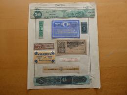 CANADA Tobacco Revenue Stamp Lot  FISCAUX Voir Scan - Steuermarken