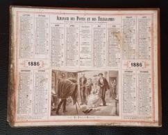 CALENDRIER ALMANACH DES POSTES 1886 ILLUSTRATION MARIAGE PHOTOGRAPHE ILLUSTRATEUR GERLIER - Big : ...-1900