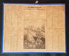 CALENDRIER ALMANACH DES POSTES 1914  ILLUSTRATION  GUERRE 14-18 SOLDATS - Big : 1901-20