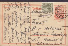 Deutsches Reich Uprated Postal Stationery Ganzsache Postreiter SCHWEIDNITZ 1921 Ibsensvej HELLERUP (Arr. TMS Cds.) - Stamped Stationery