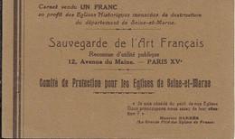 Carnet Sauvegarde De L'art Francais Complet Avec Timbres En Trés Bon état - Autres