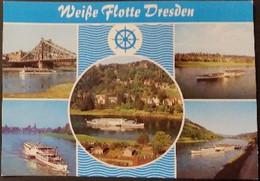 Ak DDR - Dresden - Weiße Flotte - Motorschiffe - Dresden