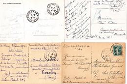 Exceptionnelle Collection De 20 CP Ill Occupation Française Douaniers Rhin & Ruhr 1923-1924 En FM Sf 1 Affranchie à 10c - WW I