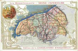 76 - Seine Maritime - Les Départements - Seine Inférieure - Edition De La Cholocaterie D'Aiguebelle - Carte Géographique - Autres Communes