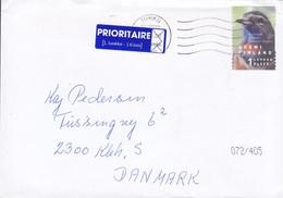 Finland PRIORITAIRE 1. Klass Label TURKU 2000 Cover Brief COPENHAGEN Amager Denmark Bird Vogel Oiseau - Cartas