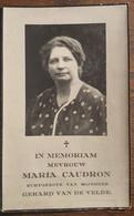 Doodsprentje Met Foto Maria Helena Adolphine Caudron (x Van De Velde ) ° Moorsel 1897 - 1949 - Devotion Images