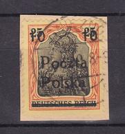 Deutsche Post In Polen - Poczta Polska Aufdruck - 1919 - Michel Nr. 133 - Briefst. - Bezetting 1914-18