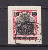 Deutsche Post In Polen - Poczta Polska Aufdruck - 1919 - Michel Nr. 134 - Briefst. - Bezetting 1914-18