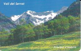 AND-151 TARJETA DE ANDORRA DE EL VALL DEL SERRAT - Andorra