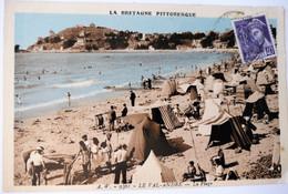 C. P. A. Couleur : 22 LE VAL ANDRE : La Plage, Animé En Gros Plan, Timbre En 1936 - Otros Municipios