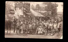 1065-EVEGNEE -photo Carte  De 1910 BRAHAM HERVE-cortege Fermiers Attelage-fête Independance 1830?- - Soumagne