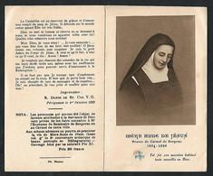 Santino/reliquia/holycard/relic: S.d.D. ANNE DE JESUS - Carmelitana - E - A - Mm. 70 X 115 - Religión & Esoterismo
