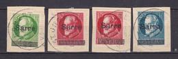 Saargebiet - 1920 - Michel Nr. 18/21 - Briefst. - Usati
